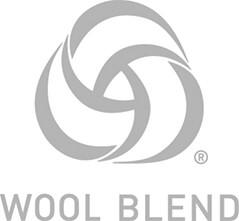 國際羊毛局認證的標誌,產品包含50%以下的純新羊毛。