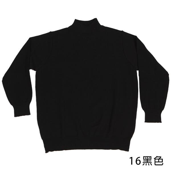 群羊101保暖純羊毛半高領上衣時尚黑色
