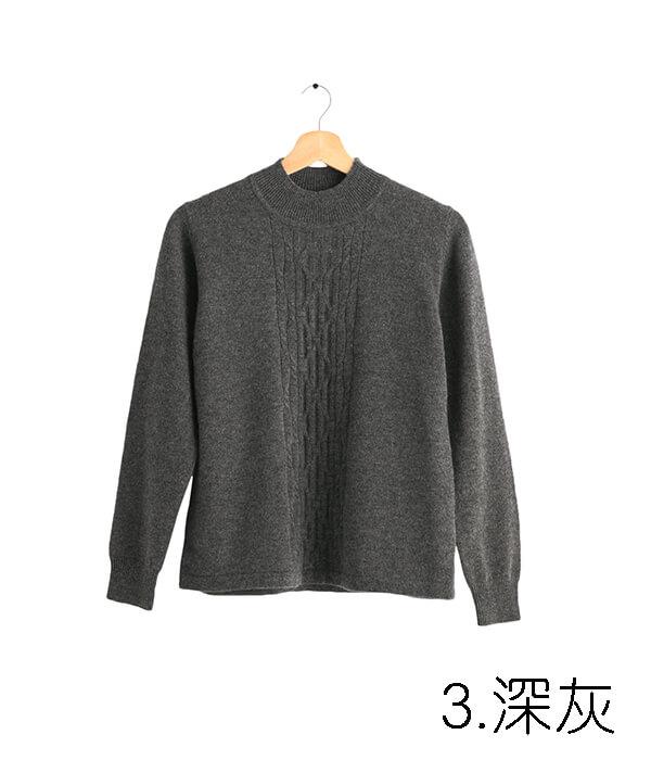 100%保暖喀什米爾高山羊絨毛衣的中性深灰色
