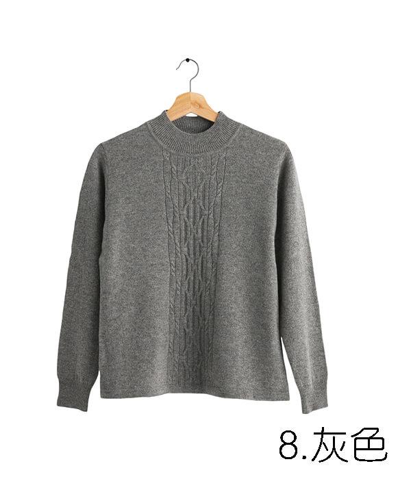 100%保暖喀什米爾高山羊絨毛衣的中性灰色