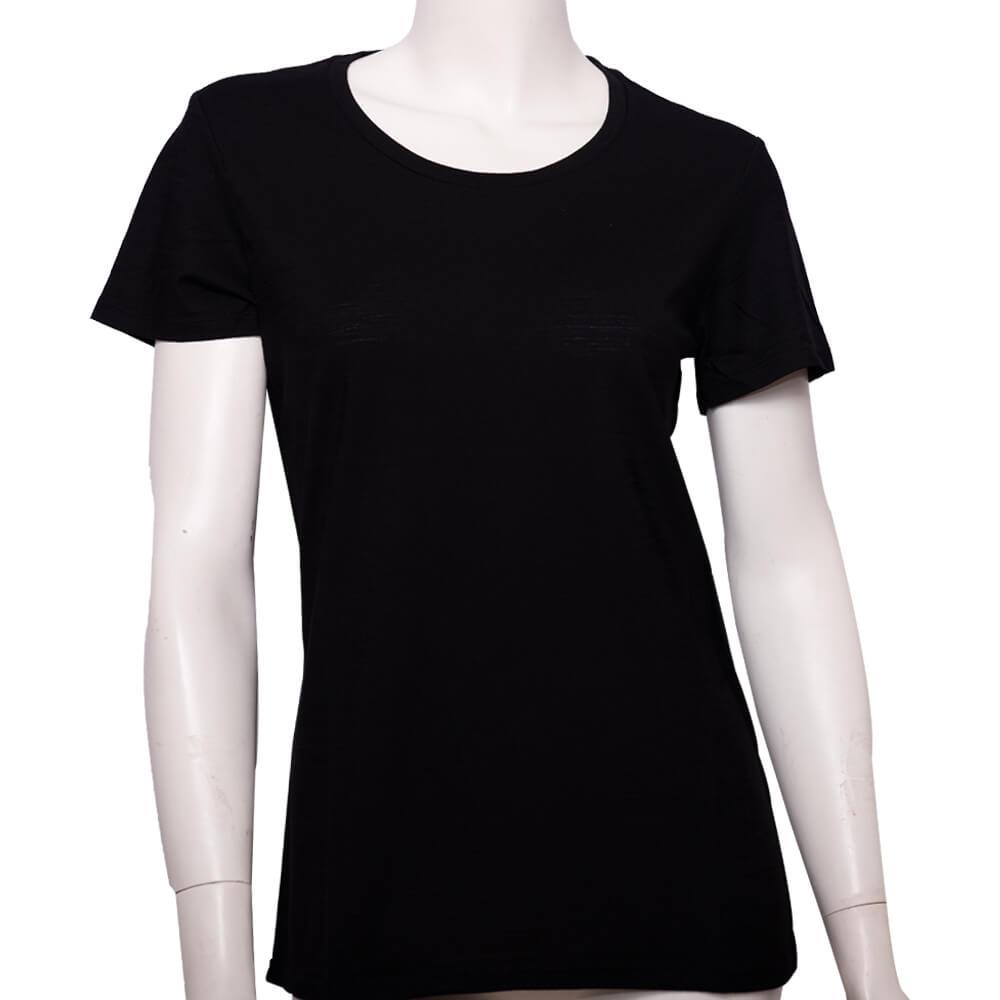 100%超細防縮羊毛的黑色T恤