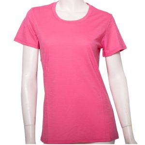 100%超細防縮羊毛的T恤粉色